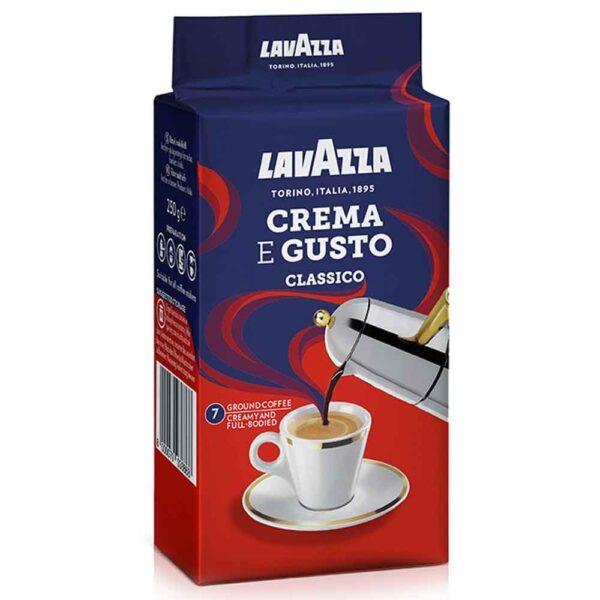 پودر قهوه لاواتزا کرما گوستو کلاسیکو پاکت وکیوم ۲۵۰ گرمی