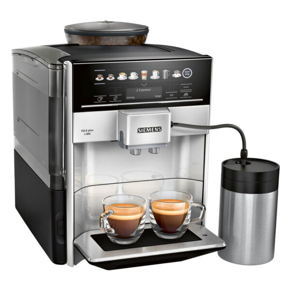 SIEMENS EQ.6 Plus s700 Fully Automatic Coffee Maker, 1500 W, Ceramic Grinder, Touch Sensor Direct Selection Buttons, Personalised Drinks, Double Cup Cover, Stainless Steel