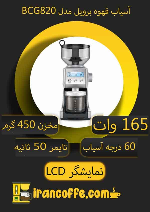 اینفوگرافی-آسیاب-قهوه-برویل-مدل-BCG820